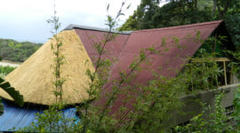 Onduline, thatch combined roof