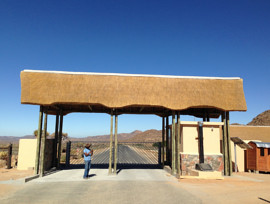 Goegap thatching project - entrance gate