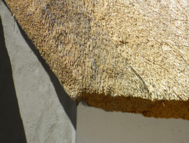 Goegap Thatching Project - hex-net protecting thatched roofs