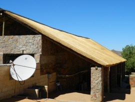 Goegap thatching project - admin block thatched roof