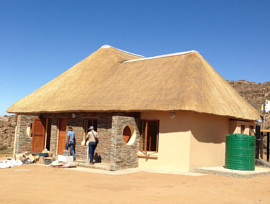 Goegap thatching project - family camp cottage