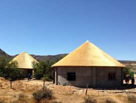 Goegap thatching project - trail camp rondavels