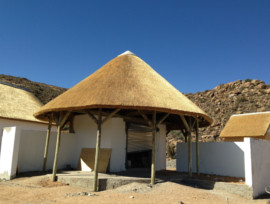 Goegap Thatching Project - group camp braai area