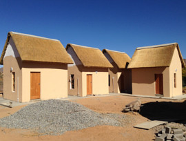 Goegap Thatching Project - group camp thatched roofs