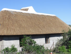 Thatched House Roof at the private residence of Side by Side Safari Lodge